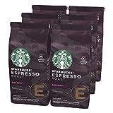 STARBUCKS Espresso Roast Dark Roast Ganze Kaffeebohnen, Dunkle Röstung, (6 x 200g)