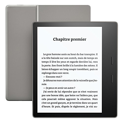 """Kindle Oasis - Résistant à l'eau, Écran haute résolution 7"""" (300 ppp), avec boutons de changement de page, 8 Go Wi-Fi"""