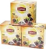 Lipton Cherry Morello (Schattenmorelle) Aromatisierter Schwarztee 3 x 20 Pyramidenbeutel