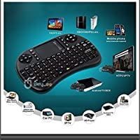 Tiptiper Mini teclado inalámbrico portátil Touchpad de 2.4GHz para PC / Mac / Android TV Tablet en negro