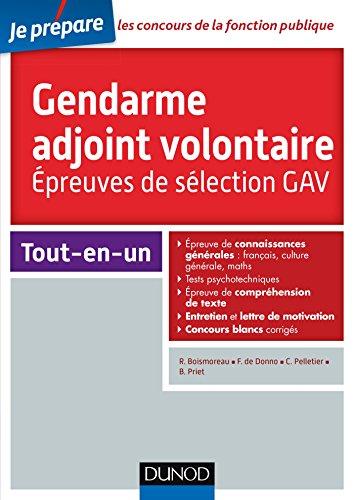 Concours Gendarme adjoint volontaire - Epreuves de slection GAV - Catgorie C
