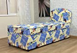 3FT Boys Single Divan Bed Mattress with Rounded Headboard Children's Football with No Storage