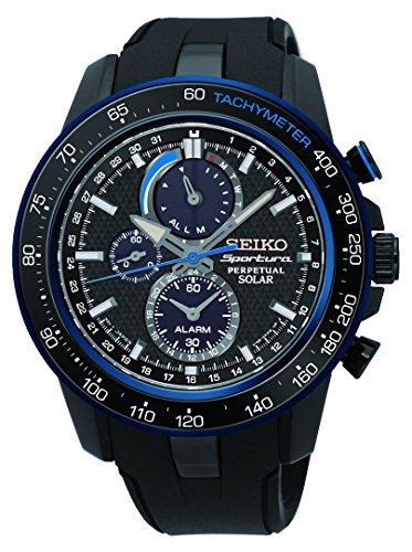 Seiko Herren Chronograph Quarz Uhr mit Plastik Armband SSC429P1