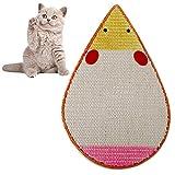 Biback Tappetini tiragraffi Modello del mouse Giocattolo per animali domestici Giocattolo di gatto cartone animato Cat Scratching Pad Sisal Scratching Pad Cat Scratching Board