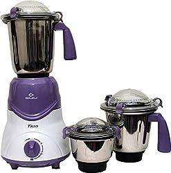 Bajaj Trio LV 600 W Mixer Grinder with 3 Jars - Lavender