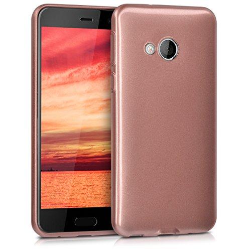 kwmobile HTC U Play Hülle - Handyhülle für HTC U Play - Handy Case in Hochglanz Rosegold