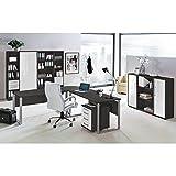 Lomado Komplett Büromöbel Set in anthrazit mit Hochglanz weiß ●