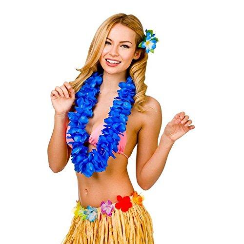 Royal Blue 9.5Cm Petal Hawaiian Hibiscus Lei Garland Fancy Dress Accessory
