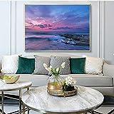 Schöne Landschaft Kunst Poster Natur Ozean Poster Leinwand Malerei Moderne Dekorative Bild (Kein Rahmen) A4 30x40 CM