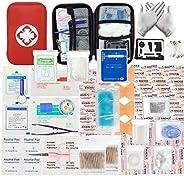 MOKIU 234pcs Trousse de Premier Secours Trousse de Secours Complete médical Boîte de d'urgence de Survie E