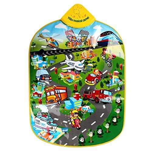 YIQU Musikalischer Teppich für Kinder. Mit Transportspiel und Klavier. Bildungsfunktionen. (Lernen Teppiche Für Kinder)