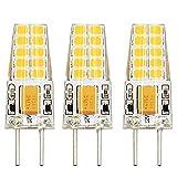 Bonlux 3W Bi-Pin Sockel G6.35 / GY6.35 Sockel JC Typ AC/ DC 12V 3000K Warmweiß 2-Stifte Ersatz für JCD LED Halogen Glühbirne (3-Pack)