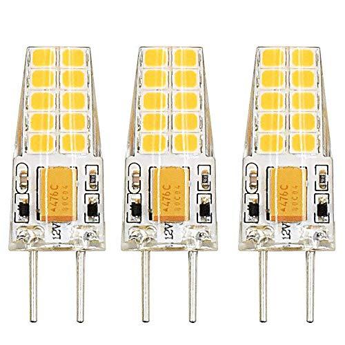 3 Sockel-typ (Bonlux 3W Bi-Pin Sockel G6.35 / GY6.35 Sockel JC Typ AC/ DC 12V 3000K Warmweiß 2-Stifte Ersatz für JCD LED Halogen Glühbirne (3-Pack))