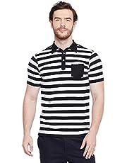 LE BOURGEOIS Stripe Collar T-Shirt for Men