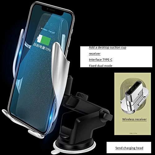 DFGB-CZSJZ Clip mágico soporte para teléfono para coche cargador inalámbrico para coche cargador de coche de navegación por inducción automático inteligente - De Cargador Inalambrico Telefono