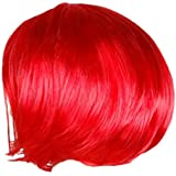 Phenovo Fashionable Synthetic Fiber Punk Bob Style Hair Wig Costume Cosplay Party Accessory Bright Red