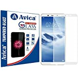 AVICA® Edge To Edge Full Glue White 5D Curved Full Front Body Covered Tempered Glass Screen Protector For Vivo Y71