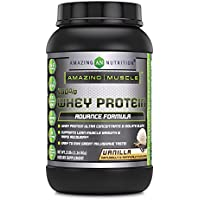 Amazing Muscle Whey Protein Ultra Concentrate & Isolate Blend Vanilla 2 lbs