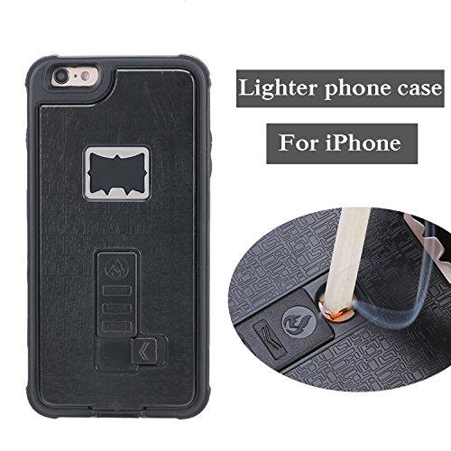 iPhone 6s Hülle, ZVE Multifunktionale Zigarettenanzünder-Abdeckung für iPhone 6 iPhone 6s mit Built-in-Zigarettenanzünder-Flaschenöffner Heavy Duty Stoß- Case - 4,7 '' (schwarz) -
