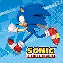 CAPRILO Lote de 80 Servilletas de Papel Infantiles Desechables Modern Sonic. Vajillas y Cuberterias.