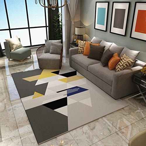 Nordic Moderne geometrische Muster weichen Teppich rechteckige Rutschfeste Bereich Teppich Dekor Wohnzimmer und Schlafzimmer (Farbe : A, größe : 120x160cm/3'9x5'2) -