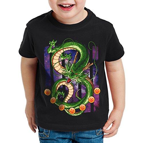 style3 Shenlong Dragón Camiseta para Niños T-Shirt shenron Z goku vegeta roshi ball, Talla:140