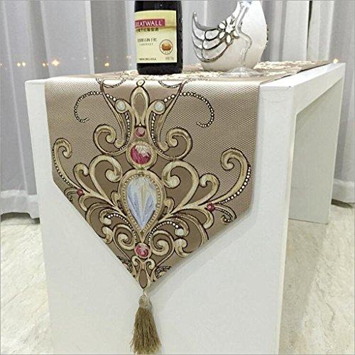 Miaoge Lusso sollievo gemme Fiore europeo classica sala da pranzo decorazione table flag stoffa 32*210cm