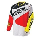 O 'Neal Hardwear MX Jersey Flow negro rojo Camiseta Motocross Enduro Cross Moto, 0027F de 40, color negro rojo, tamaño medium