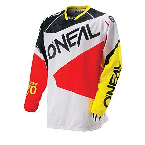 O'Neal Hardwear MX Jersey FLOW Schwarz Rot Trikot Motocross Enduro Cross Motorrad, 0027F-40, Größe 2XL (Bike Jersey Flow)
