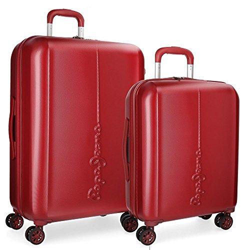 Juego de maletas Pepe Jeans Cambridge Rojo rígidas 55-70cm