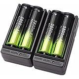 Vovotrade 4X 5800mAh Li-ion 18650 3.7V batería recargable + 2 X Cargador Inteligente