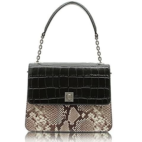 MICHAEL Michael Kors Natalie Large Top Handle Embossed Python Satchel