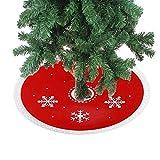 DELEY Christmas Prop La Novedad Decoración Faldas Para El Árbol Decoración de Temporada Vacaciones Regalo Decoración Adornos Diámetro 11.81 Pulgadas Blanco Nieve