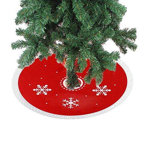 DELEY Weihnachts Neuheit Prop Dekorationen Dekor Xmas Baum Rock Christbaumständer Decke Weihnachtsbaumdecke Christbaumdecke Geschenk Durchmesser 11.81 Zoll Schneeflocke - Schneeflocke Baum Rock