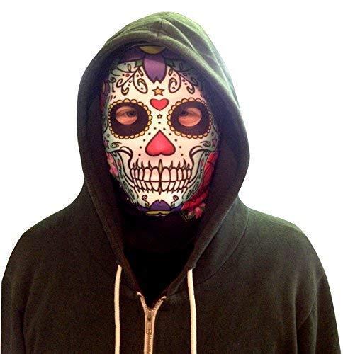 L&S PRINTS FOAM DESIGNS Candy Skull grün Design Fun Stoff Gesicht Maske Halloween/Hirsch Party Zubehör hergestellt in (Skull Candy Kostüme)