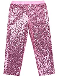 9d8d2bbb1b012 Freebily children Girls Shiny Sequins Leggings Pants Kids Boys Sparkling  Party Birthday Clothes