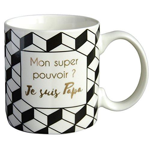 Draeger - Mug Original - Tasse À Thé à Offrir en Cadeau à Vos Proches - Tasse À Café en Porcelaine Fine - 350 ML 8 cm de diamètre x 8,5 cm de Hauteu