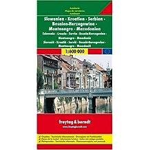 Slovénie - Croatie - Serbie-Monténégro - Bosnie-Herzégovine - Macédoine : 1/600 000