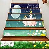 HAIMACX Wohnkultur Malerei Valley Direct 3D Kreative 6 Stück Wasserdichte Treppe Post Fairy Star Alien