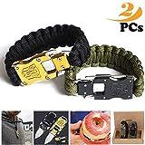 paracord bracelet homme,bracelet survie,Couteau en acier inoxydable d'autodéfense,...