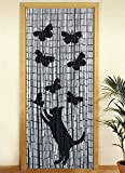 Wenko 5123004500 Bambusvorhang Katze und Schmetterling, Bambus, cm, Mehrfarbig