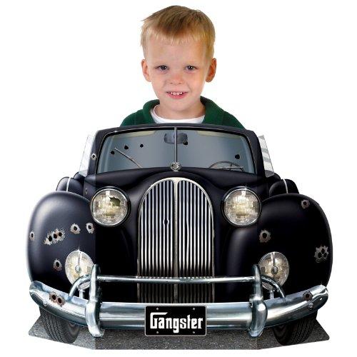 Beistle – Accesorio para Tomar fotografías 57988 con diseño de Coche de gánster, 93,5 cm, x 63,5 cm, Papel, Negro/Plata, Talla única