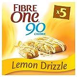 Fibre One 90 Calorie Lemon Drizzle Squares 24g (Pack of 25 bars) (5 packs of 5 bars)