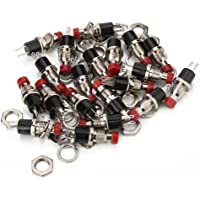 BQLZR Red Mini Momentary On Off Push Button Micro Switch 0.5A Pack of 20