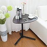 Alexzh_Side tables Beistelltisch, Laptop-Tische Hubbare Bewegung Einfacher Schreibtisch Multifunktions-Haushalts-Lazy Tray (Farbe : Black Walnut)