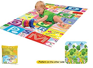 Kids Double-Sided Playmat Soft Waterproof Double Sided Puzzle Play Mat Rug Fun from Unbranded