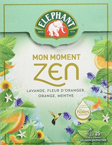 Elephant Infusion Mon Moment Zen 25 Sachets Pyramides - Lot de 4