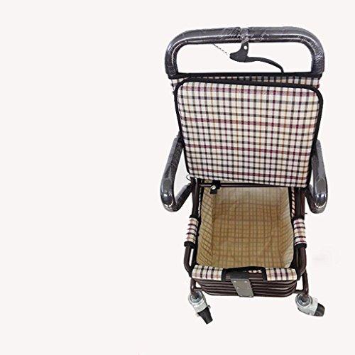 Walker imbottito sedile carrello in metallo pieghevole Seniors Multi-Purpose Shopping