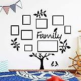 Árbol genealógico Pegatinas de pared Decoración para el hogar Accesorios para cocina Restaurante Dormitorio Decoración infantil M 30cm X 29cm Negro
