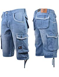 46a6bb2ba18 Crosshatch Mens Newberg or Gaston Denim Shorts - Newburg - Light Wash - 32